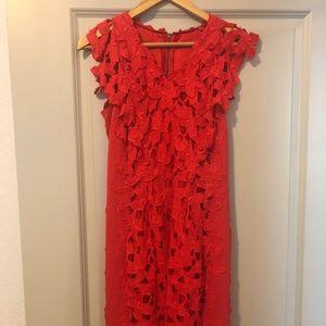 Elie Tahari Red Lace Dress